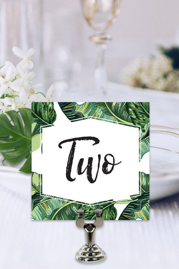 Tropical Wedding Table Number Table Number Template Table Number Printable Table Number Download Tropical Design Table Number Pdf Diy Wedding Table Wedding Table Numbers Table Numbers Wedding Diy Wedding table numbers template