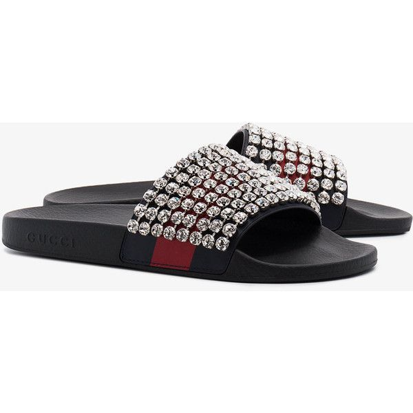 ee4945489ee Gucci Web Slides With Crystals (18