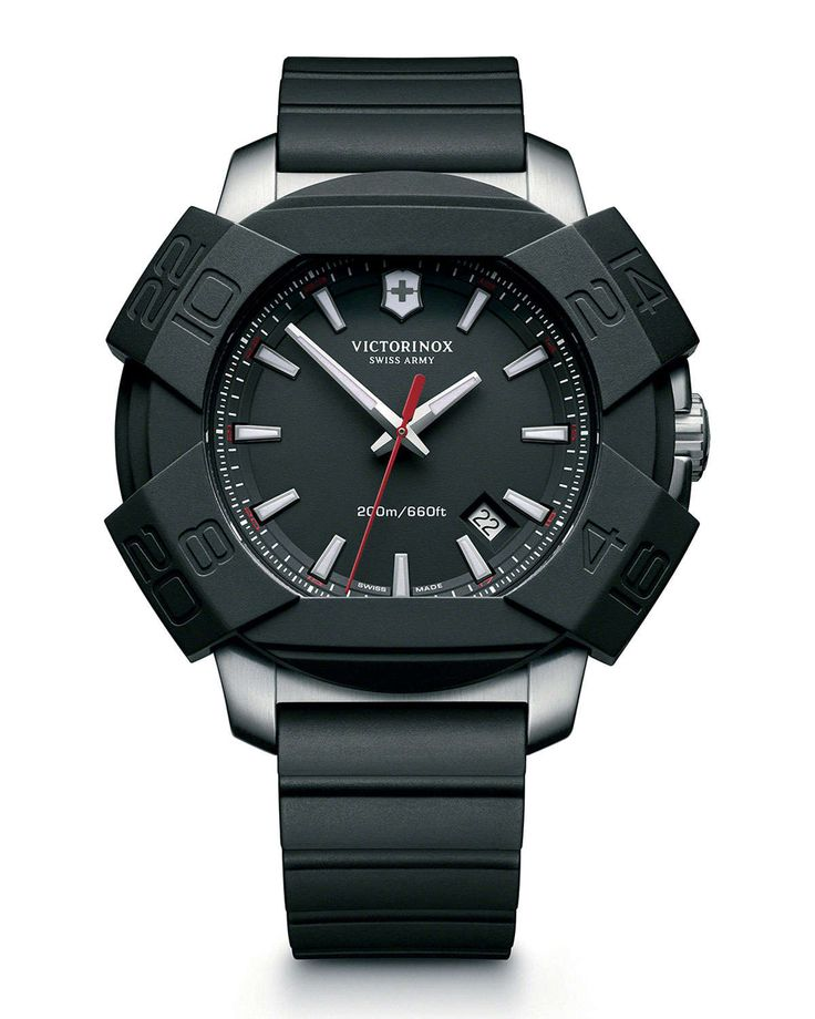 I.N.O.X. Rugged Watch with Protective Cover, Black