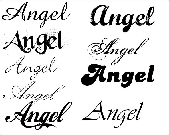 Tattoo lettertype lettertypes alfabet in sierletters picture pictures
