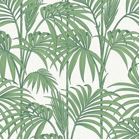 Honolulu Wallpaper by Graham & Brown | This palm leaf design hits the tropical fashion trend of the moment, in a range of color combinations.