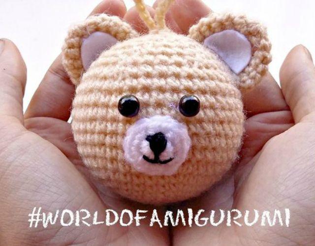 Chaveiro Amigurumi - Urso Teddy Bear no Elo7   Leila Amigurumi ...   500x640