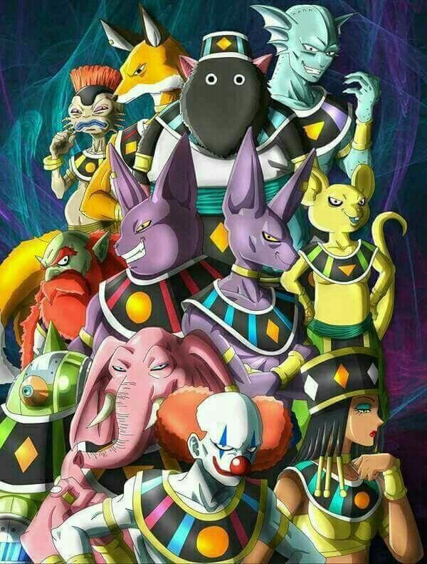 Les dieux de la destruction des 12 univers