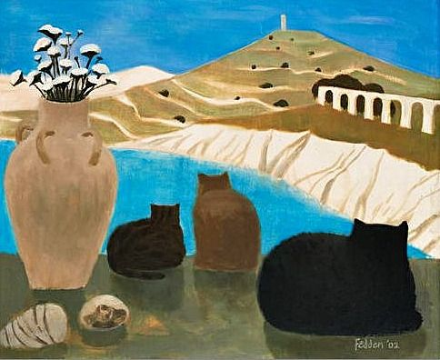 Cats in Gozo | Mary Fedden 2002
