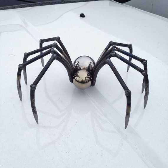 Metal Sculpture, Welded Sculpture, Metal Spider, Spider Sculpture, Handmade Spider, Metal Art, Welded Spider, Steel Spider,