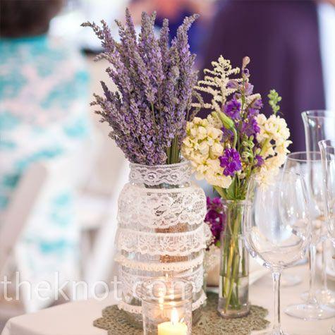 Flores y puntillas decoración