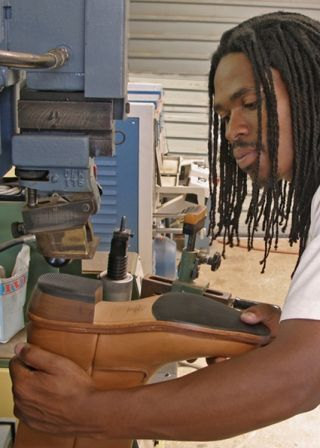Handmade leather boots, shoes, bags, and belts are created onsite at Groundcover Leather Company on the Midlands Meander. More information: www.midlandsmeander.co.za