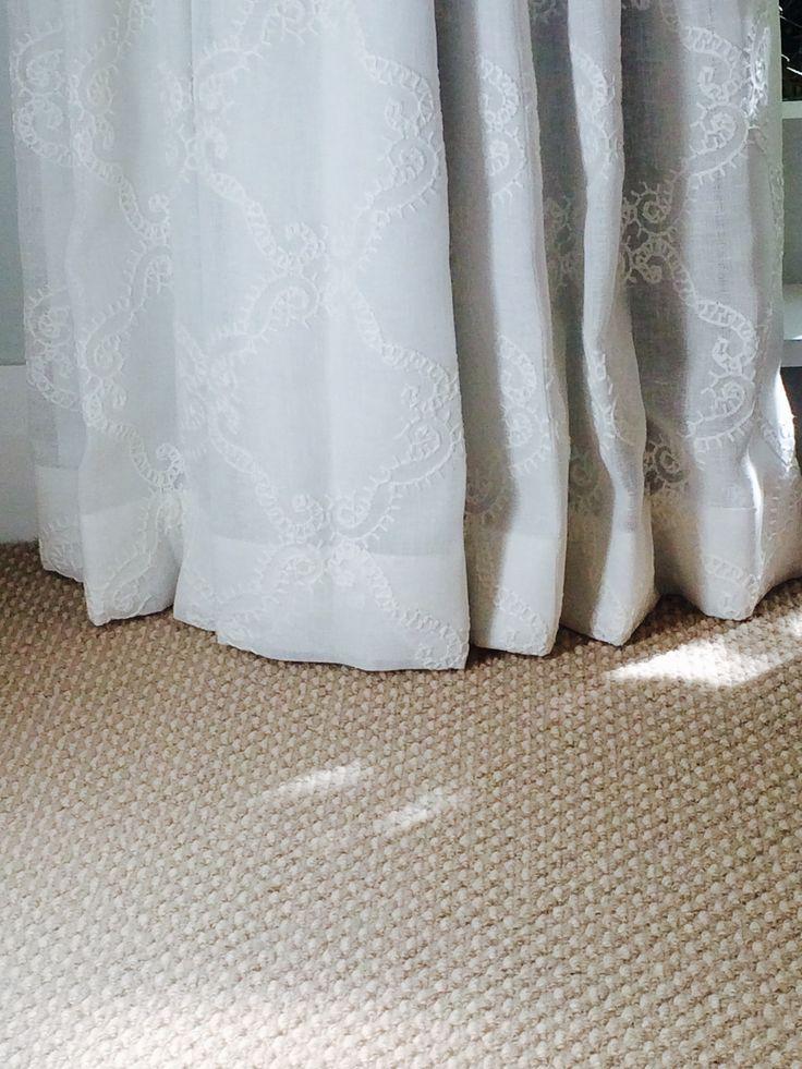 Curtain length - 10mm grazing the floor