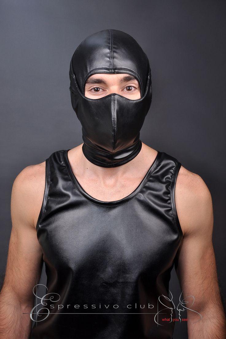 Leather hood bdsm gwen