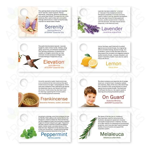 doTERRA Basic Starter Kit Sample Cards (Set of 24)