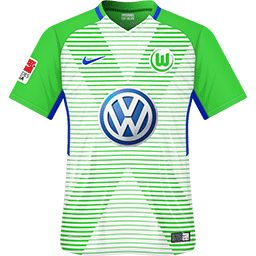 552c44f9756fa VFL Wolfsburg home shirt for 2017-18.