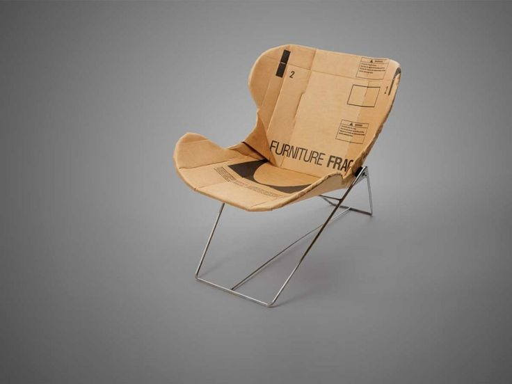 The Re-Ply chair: a minimalist eco-recliner chair made from upcycled boxes by Dan Goldstein | Tododesign by Arq4design