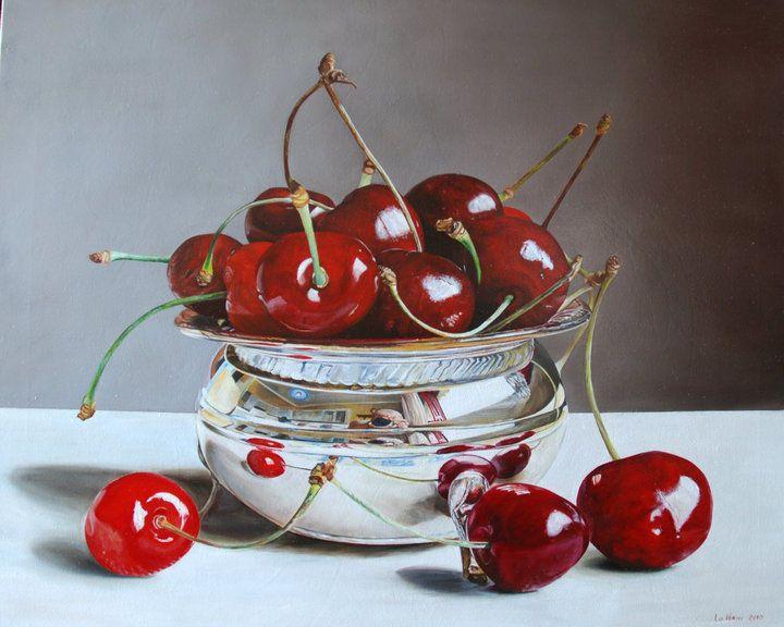 Ciliegie e riflessi (Картина), 100x80 cm - Lorenzo Lo Vermi olio su tela