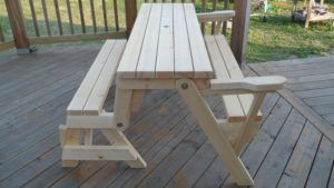 Folding Bench Table Combo
