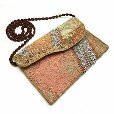 Vintage Style Handbag Multicolor Purse Embroidered Bag Indian Wedding Clutch