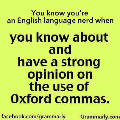 All about the Oxford (serial) comma!