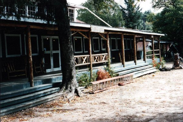 old school dining hall porch