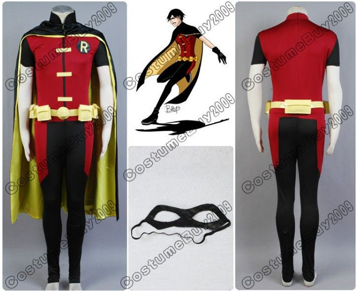 New Arrival Batman Young Justice Robin Cosplay Costume Outfit Custom Made $155.00