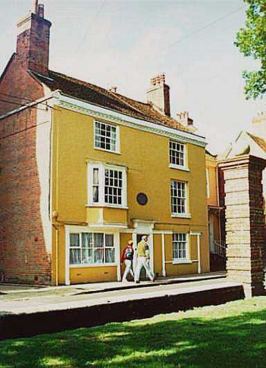Jane Austen's last home, in Winchester, England, she is buried in Winchester Cathedral
