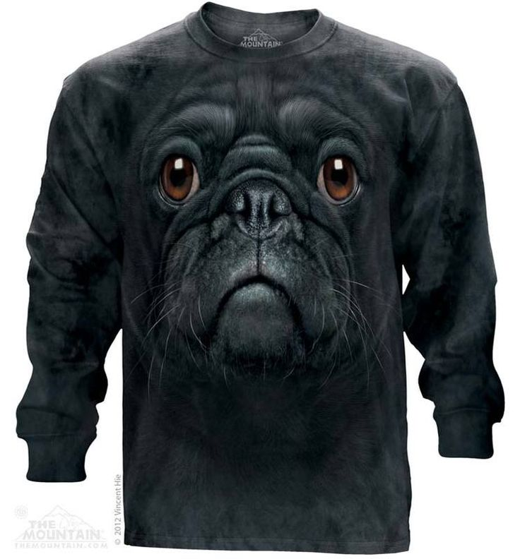 Black Pug Long Sleeve T-Shirt - 30% DISCOUNT ON ALL ITEMS - USE CODE: CYBER  #Cybermonday #cyber #discount