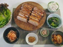 Korean Roasted Pork Belly Bossam from CookingChannelTV.com