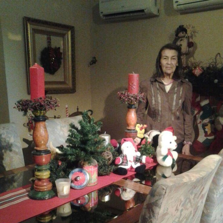 Decoracion navideña mesa del comedor. 2014. By Glk!