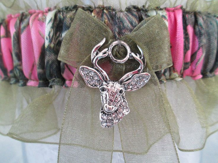 Hunting Camouflage Pink Wedding Garter - Put the Pink in His Camo