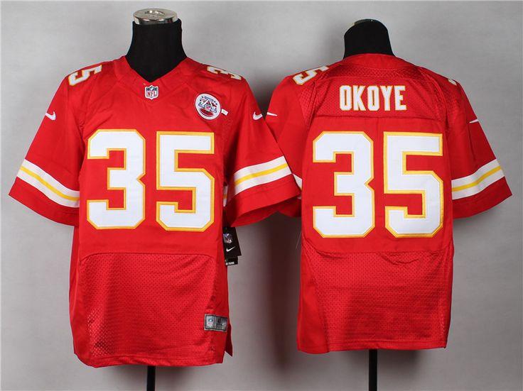 kansas city chiefs 35 christian okoye red team color nfl elite jersey