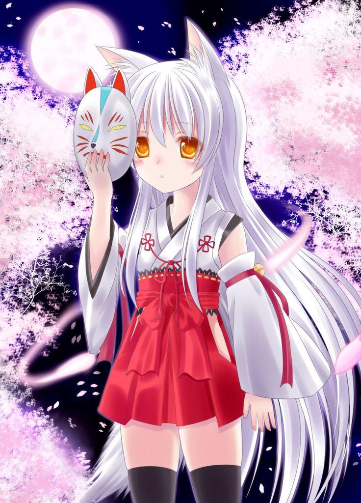 anime girl fox mask Pesquisa Google anime girl