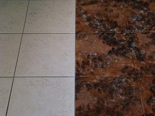 Tile Floors Staining Ceramic
