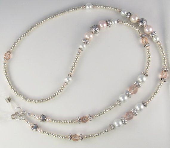 A great addition to a jewelry collection, Antique Pearl is a lovely handmade eyeglass leash. Made with beautiful Czech rose fire polished crystals,