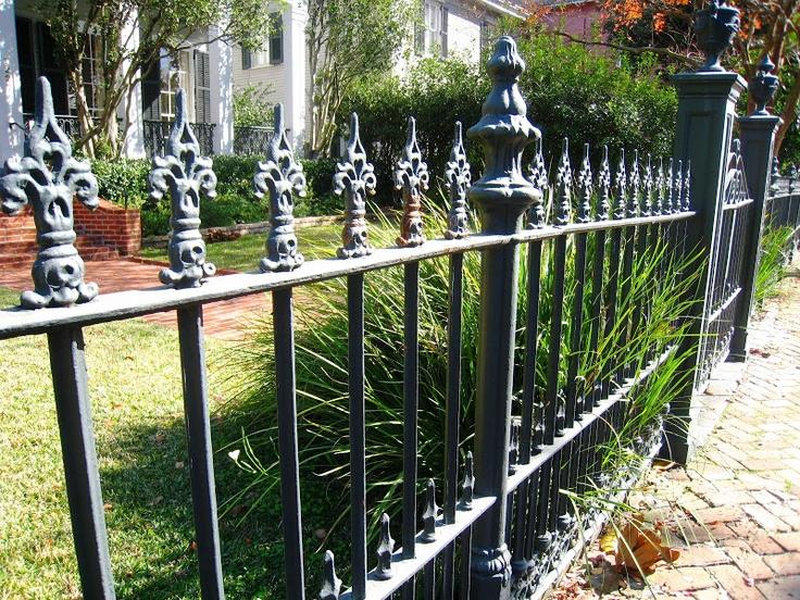 New Orleans Iron Fence Wrought Iron Pinterest