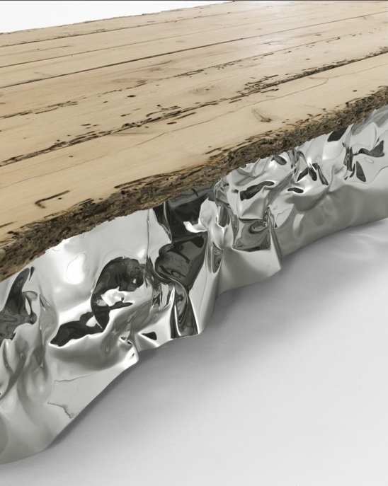 Wooden Table Top + Metal, By Riva1920