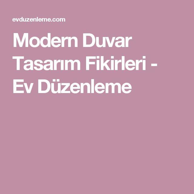 Modern Duvar Tasarım Fikirleri - Ev Düzenleme