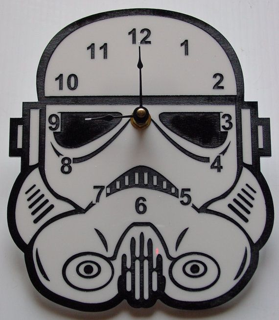 """Show your allegiance to the Galactic Empire with this stormtrooper clock.   25 Ways To Make Your Home A """"Star Wars"""" Heaven"""