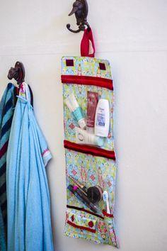 Kosmetiktasche für die Reise nähen kostenfreie Anleitung