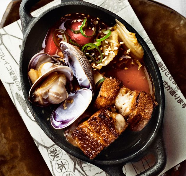 Kimchi Pork Belly with Tofu & Clams, State Bird Provisions - SF, CA