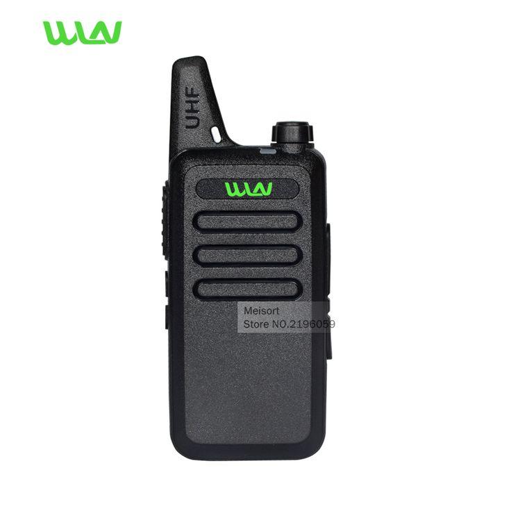 Portable Radio Set WLN KD-C1 Mini Walkie Talkie UHF 400-470 MHz Handheld Two Way Radio Communicator CB Ham Radios HF Transceiver