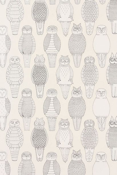 Owls Of The British Isles Wallpaper - Anthropologie.com