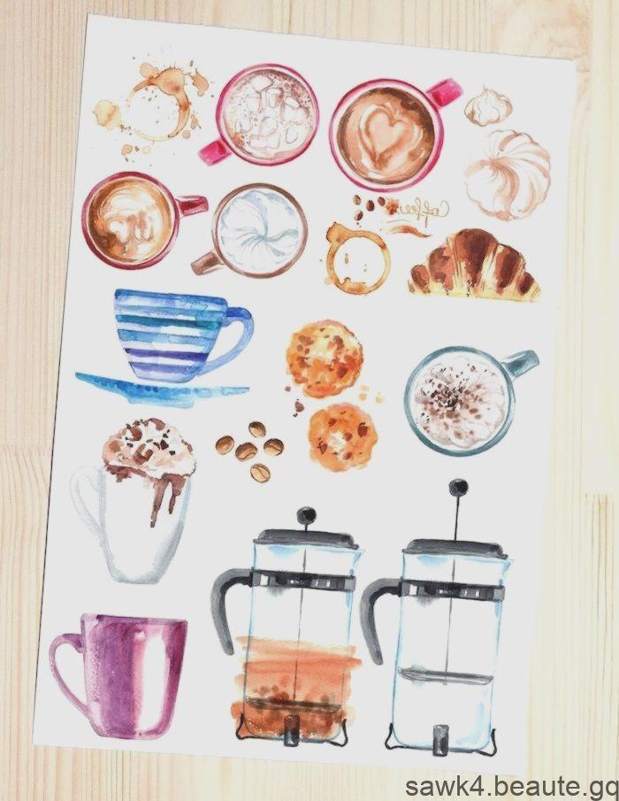 Images Sympas Pour Tracage Boissons Chaudes A L Aquarelle Cafe