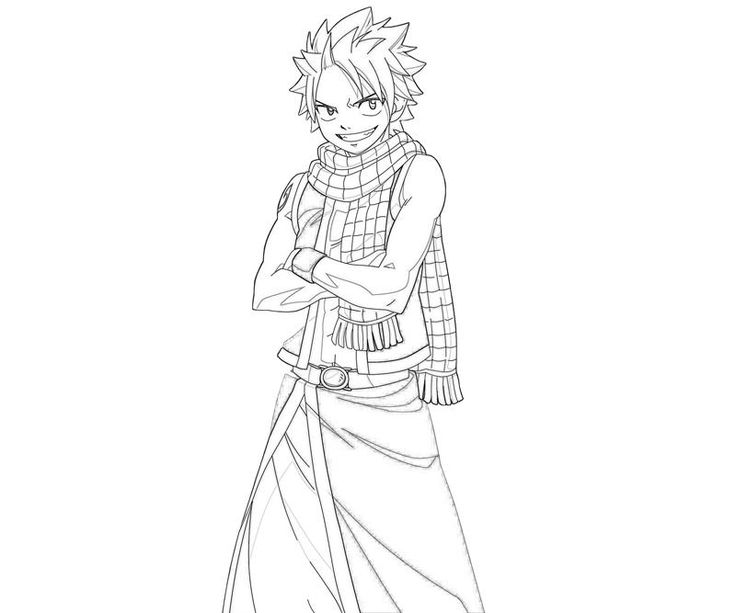 fairy tail coloring pages natsu fairy tail chapter 134 lineart