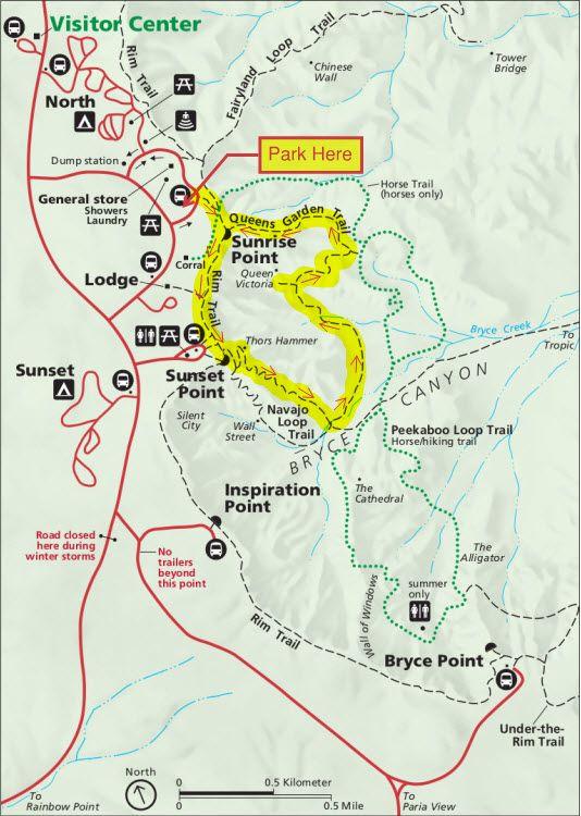 Map Of Arizona And Utah National Parks.Trail Map Byrce Utah National Parks In 2019 Bryce Canyon