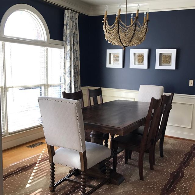 Best Bm Hale Navy Navy Dining Room Walls Dining Room Blue 400 x 300