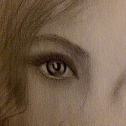 #picture #pic #instapicture #instapic #eyes #brow #eyebrow #lashes #pencil #drawing #byme #art #pencilart #pencildrawing #hair #girl #blueeye