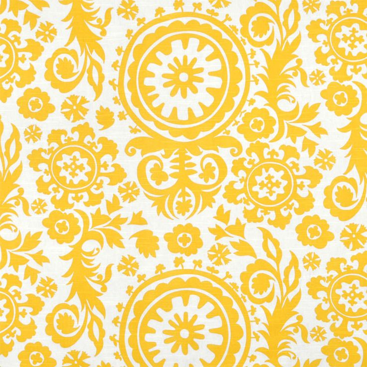 Suzani colour Corn Yellow Find this and other great fabrics at www.curtaineasy.co.nz