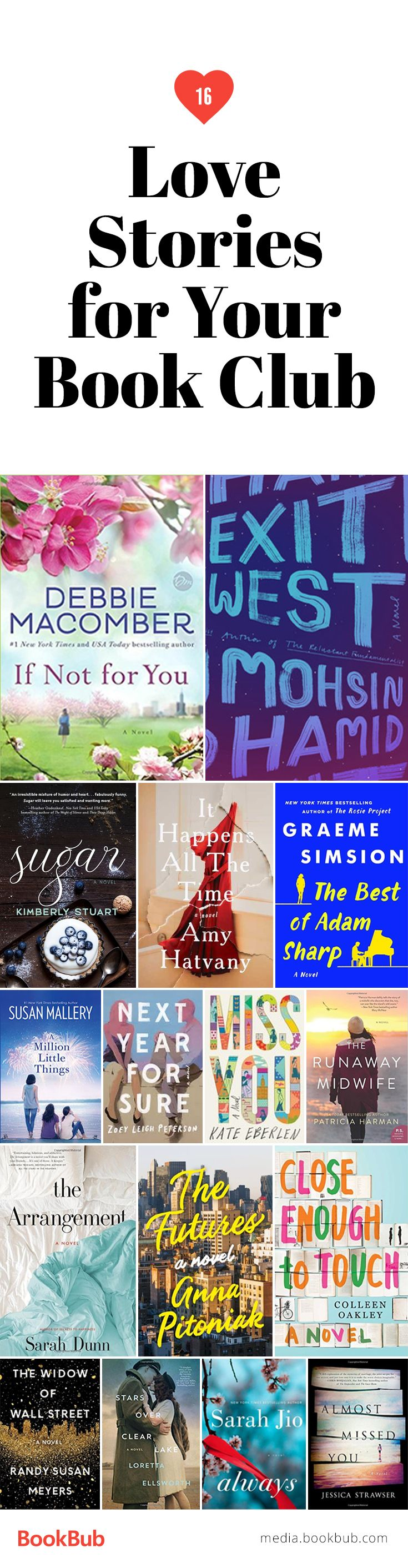 16 book club ideas for women, featuring romantic books about complicated love stories. These include some of the must read books of 2017.