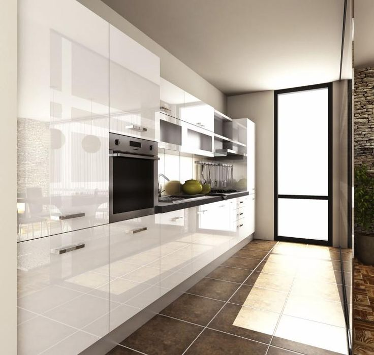 High Gloss White Kitchen (HGW) - Cabinetsmith Canadian Made Kitchens and Bath manufactured in Barrie Ontario Canada
