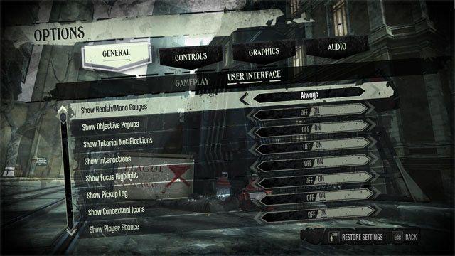 Bethesda、没入型のゲームプレイ体験を提供する『Dishonored』のUIオプションを紹介 | Game*Spark - 国内・海外ゲーム情報サイト