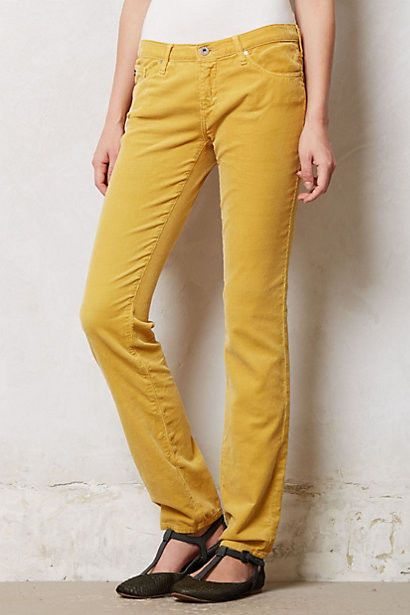 ANTHROPOLOGIE Slim AG Stevie Cords Pants Various Colors and Sizes NWT #AGAdrianoGoldschmied #Corduroys