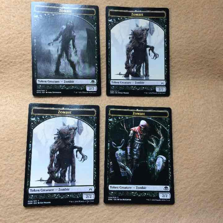Four Zombie Token Black Magic MTG Cards - Mercari: Anyone can buy & sell